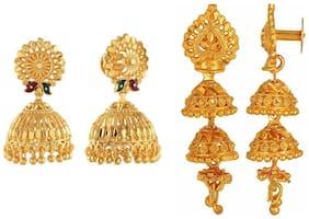 Urbanela Gold Plated Antique Designer Jhumki Earrings Fashion Jewellery  ADU-EG04-EG35