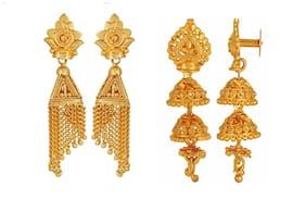 Urbanela Gold Plated Earrings Combo with guaranteed polish Set of 2 : ADU-EG35