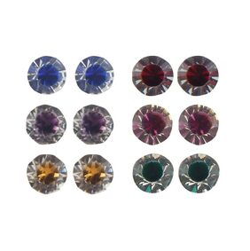 Urbanela multicolour Stud Earrings Combo Set of 6