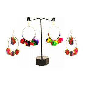 Urbanela Pom Pom earring combo-set of 2 ADPC203