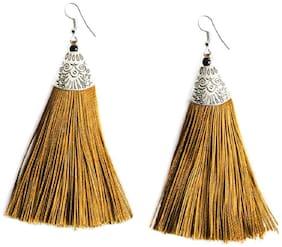 Urbanela Stylish Trendy Tribal Fancy Party Wear Tassel Earrings for Girls and Women : UNTE01-YELLOW