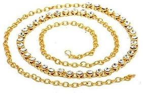 2da0e4cb5e989 Urbanela Traditional Gold Plated Kundan & Stone Studded Kamarband Belly  Chain - Waist Belt : ADWB01
