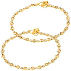 Utkars Diamond studded Gold Anklet For women/Girls