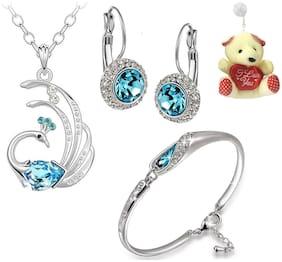 Blue Bracelet & Necklace Set