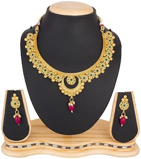 Vermont Charming Gold Plated Beautiful Necklace Set for Women and Girls