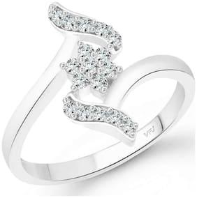 Vighnaharta Youth Flower CZ Rhodium Plated Alloy Finger Ring for Women and Girls - [VFJ1344FRR]