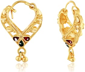 Vighnaharta Traditional Bucket Bali Alloy Gold and Micron Plated Earring