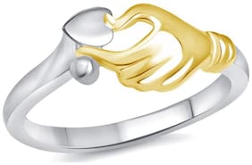Vighnaharta Best Surprise Silver and Rhodium Plated Ring for Women