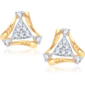 VK Jewels Golden Earrings (Pack Of 5)