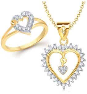 VK Jewels Golden Jewel Set