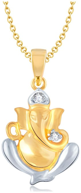 VK Jewels Golden And Silver Pendant (Pack Of 5)