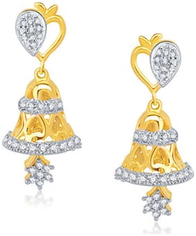 VK Jewels Golden Earrings (Pack Of 5)