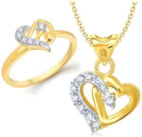 VK Jewels Golden Jewel Set (Pack Of 5)
