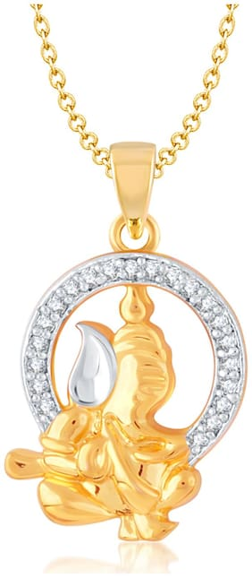 VK Jewels Golden And Silver Pendant