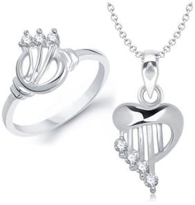VK Jewels Silver Jewel Set