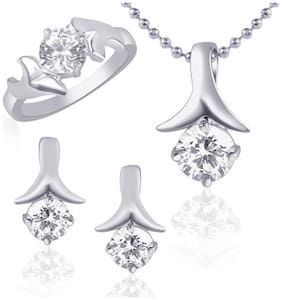 VK Jewels Silver Jewel Set