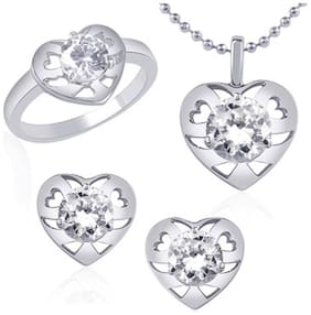 VK Jewels Silver Jewel Set (Pack Of 5)