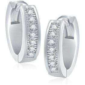 VK Jewels Silver Hoop Earrings (Pack Of 5)