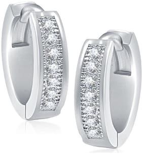 VK Jewels Silver Hoop Earrings