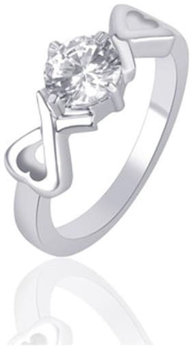 VK Jewels White Ring (Pack Of 5)
