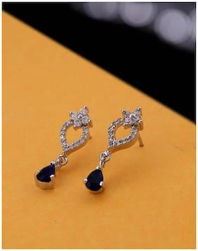 Voylla CZ Blue Gems Work Wear Earrings