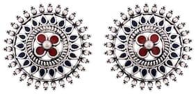 Voylla Oxidised Small Stud Work Wear Earring
