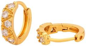Voylla Gems Encrusted Brass Earrings