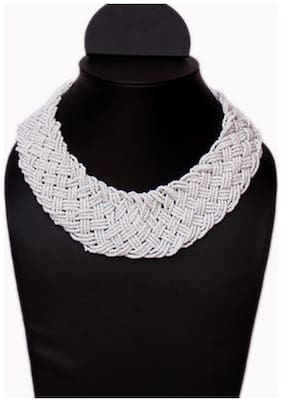 VR Designers White Necklace (Set Of 5)