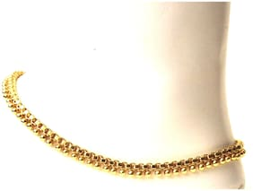 Vsasa s Designer Gold Plated Anklets for young Ladies