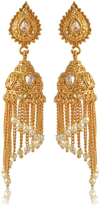 Womens Earring Gold Br Jhumki Earrings For Women E129 By The Roma Brothers