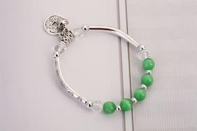 Enso Green Antique Elasticated Bracelet
