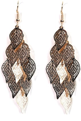 Imported Golden Filigreen Leaf Earrings