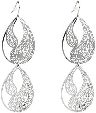 Enso Filigree Light Weight Dangler Earrings - Silver