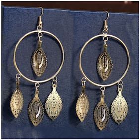 Imported Gold Hoop Party Earrings
