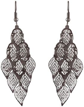 Imported filigree Silver Leaf Earrings