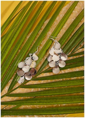 Imported Light Weight Silver Dangler Earrings