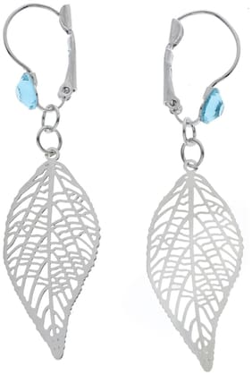 Silver Leaf Shape Earrings