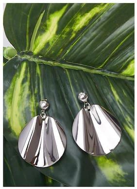 Imported Silver Beaten Metal Earrings