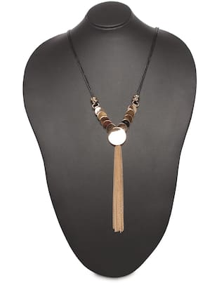 Imported Gold Long Coin Necklace