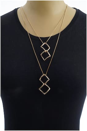 Imported Layered Gold Pendants with Long Chain