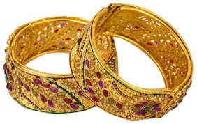 YouBella Antique Style Gold Plated Kara Bangle for Women
