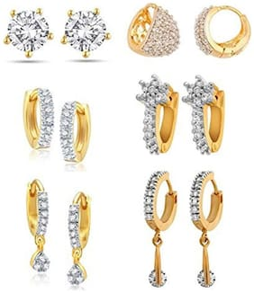 YouBella Combo of Trendy Earrings for Girls and Women