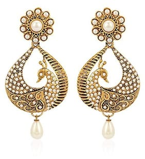 Youbella Dancing Peacock Stylish Jhumki Earrings For Women