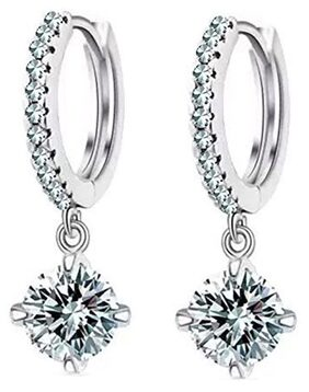 Youbella Jewellery Clear Cz Fancy Party Wear Earrings For Girls And Women