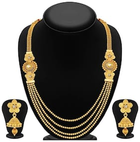 YouBella Jewellery Gold Plated Necklace Set with Earrings