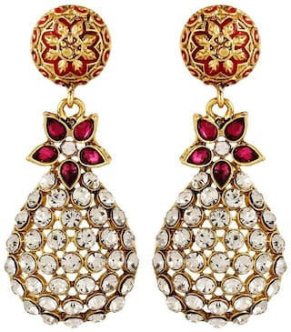 567886cfa6a11 YouBella Jewellery Traditional Gold Plated Fancy Party Wear Jhumka / Jhumki  Earrings for Girls and Women