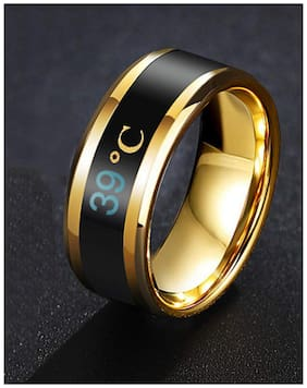 YouBella Jewellery Stainless Steel Intelligent Smart Temperature Changing Ring for Boys/Men