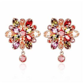 YouBella Multi-Colour Gold Plated Stud Earrings for Girls