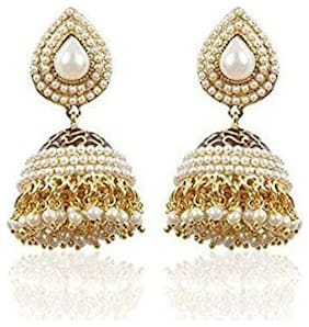 YouBella Pearl Studded Traditional Jhumki For Women