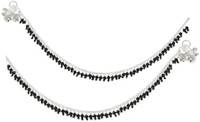 Yuvaan crystal anklet 08 for Women